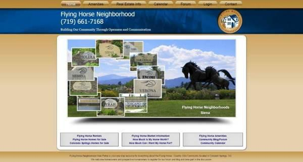 Website designed for Flying Horse Neighborhood Real Estate