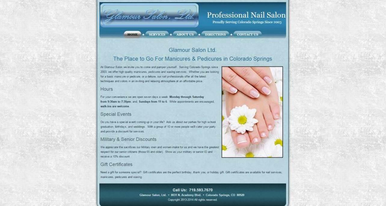 Glamour Salon Website