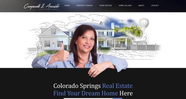 Picture of Campanelli & Associates website home page - dark haired girl with thumbsup