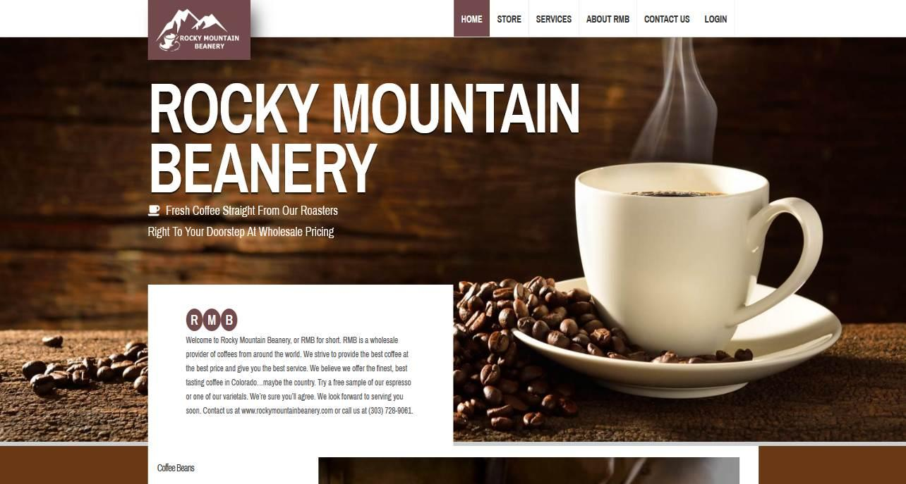 Picture of Rocky Mountain Beanery Website