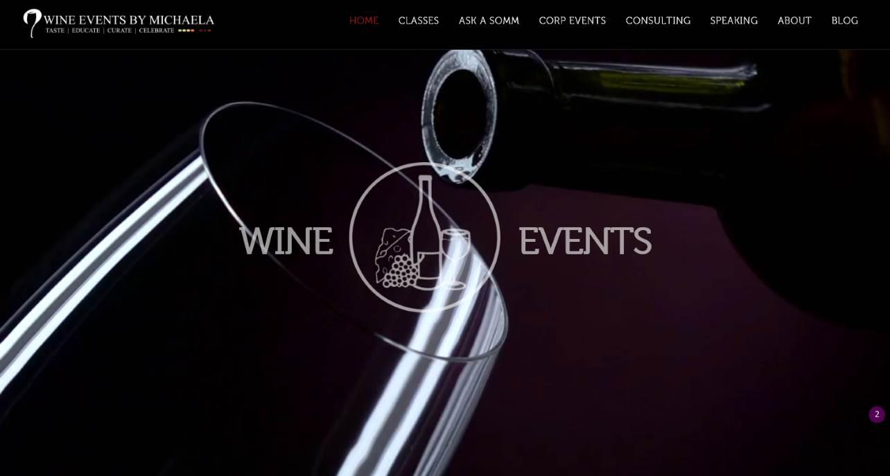 Picture of Wine Events By Michaela Website