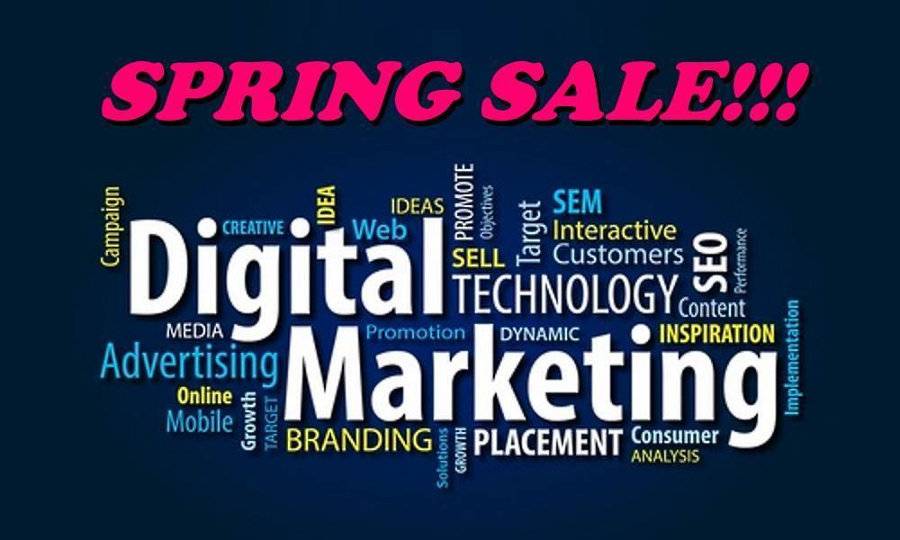 Spring Sale on Website Services